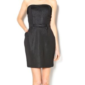 NWOT MYSTIC BOW STRAPLESS cocktail party DRESS L